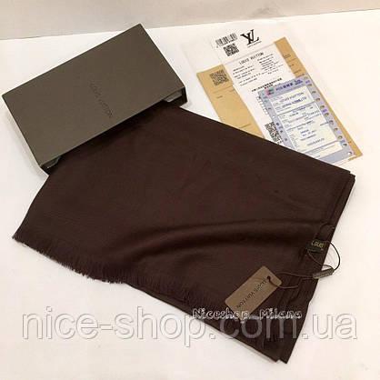 Палантин Louis Vuitton какао, фото 2