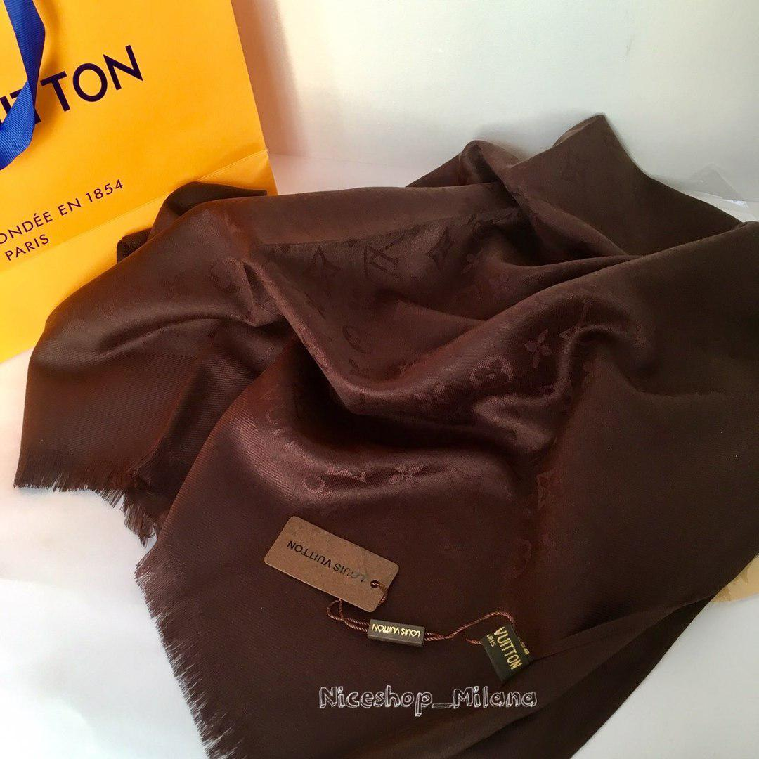 Палантин Louis Vuitton шоколад