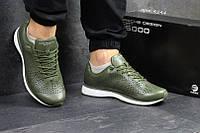Мужские кроссовки Adidas Porsche Design, темно-зеленые / кроссовки мужские Адидас Порше, пресс кожа, удобные