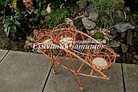 Подставки для цветов плетенные из лозы, фото 1