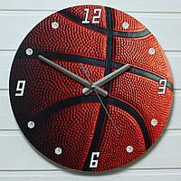 """Настенные часы - """"Баскетбольный мяч"""" (на пластике)"""