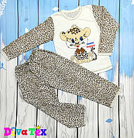 Легкая детская пижама Милый леопард