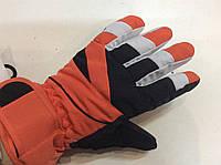 Перчатки горнолыжные детские  р.S(5) (оранжевые/черн)