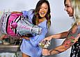 Фольгированный воздушный шар в форме розовой бутылки с пятизвездочным шампанским. 100 см., фото 7