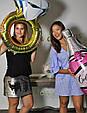 Фольгированный воздушный шар в форме розовой бутылки с пятизвездочным шампанским. 100 см., фото 5