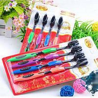 Набор бамбуковых зубных щёток 4ш, фото 1