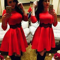 Платье куколка с гепюром