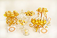 Свадебный Кенди бар в золотом цвете  (под ключ) на 30 чел