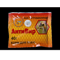 Антивир 40 грамм порошок для профилактики и лечения вирусных болезней пчел
