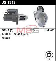 Стартер восст. /1,4кВт z13 / Nissan Primera X-trail 2.0-2.5 01-