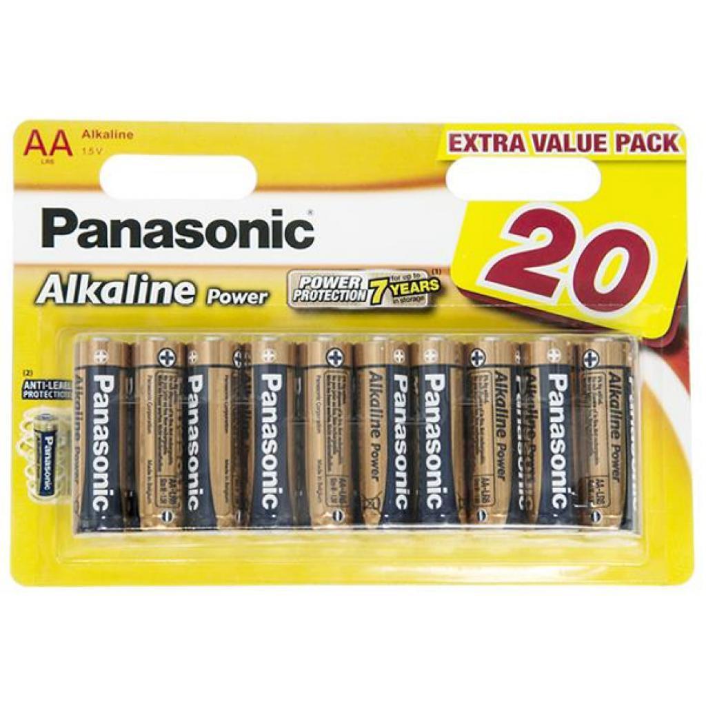 Батарейки АА Panasonic Alkaline Power (LR6REB / 20BW)