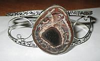 """Шикарный серебряный браслет с септарией  """"Шоколад"""" ,  от студии LadyStyle.Biz, фото 1"""