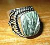"""Серебряный перстень  с натуральным серафинитом """"Пестрый"""" , размер 18,8 от студии LadyStyle.Biz"""