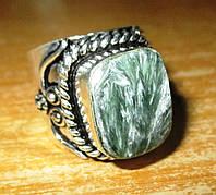 """Серебряный перстень  с натуральным серафинитом """"Пестрый"""" , размер 18,8 от студии LadyStyle.Biz, фото 1"""