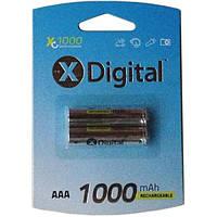 Аккумуляторы ААА X-DIGITAL HR03 Ni-MH 1000mAh HR03