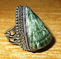 """Серебряный перстень  с натуральным серафинитом """"Треугольный"""" , размер 17,8 от студии LadyStyle.Biz, фото 1"""