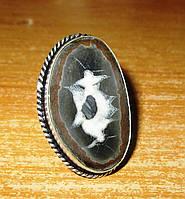 """Крупный перстень с септарией  """"Шоколад"""", размер 18,5  от студии LadyStyle.Biz, фото 1"""