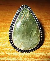"""Кольцо с турмалиновым кварцем волосатиком """"Серебро"""", размер  18,3 от студии LadyStyle.Biz, фото 1"""