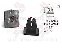 Гайка крепления внутренняя обшивки, крепежа номерного знака Fiat, Honda, Mitsubishi, ВАЗ 2105-07, 2110-15, 2121 (Shemi). №12