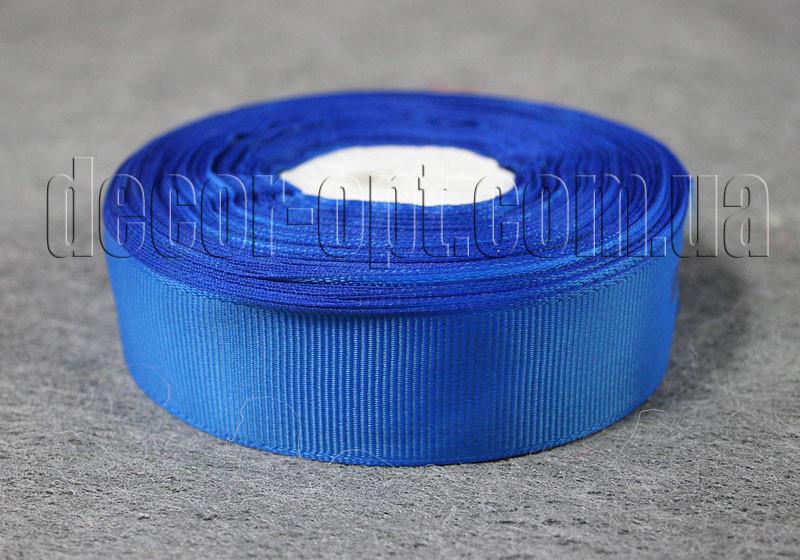 Лента репсовая темно-синяя 2,5 см 25 ярд арт.40