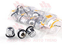 Гайка М12х1,5х35 колеса Hyundai хромированная конусная закрытия, пласт. кольцо, ключ 21 (20 шт.) пакет (Walline). Ф 369