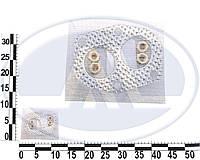 """Прокладка приёмной трубы глушителя (фланец) ВАЗ 2101-07 с гайками, металл. """"штаны"""" (БелЗАН, комплекты). набор 32 Р"""