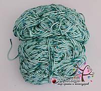 Стоковая хлопковая пряжа для вязания, меланж, 400 грамм