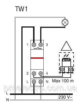 Схема подключения сумеречного реле TW1