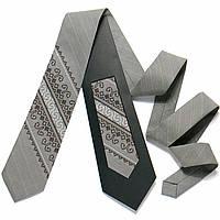 Оригинальный вышитый галстук № 724 (Галстуки с вышивкой)