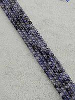 047880 Нитка Танзанит 40 см. 3 мм.
