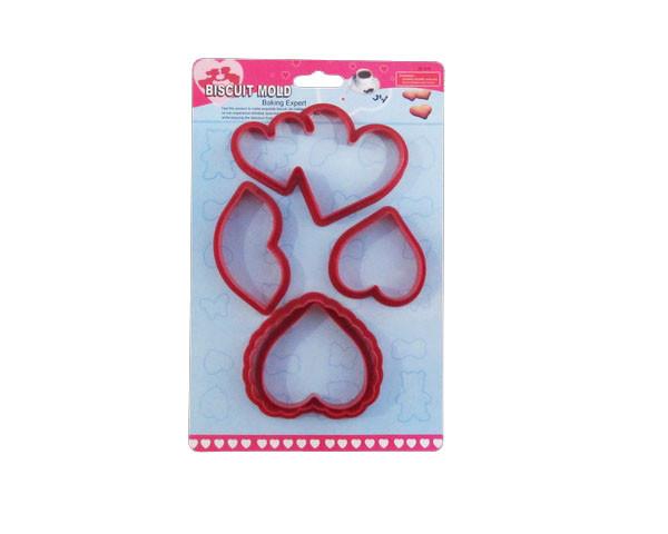 """Вырубка пластм. для мастики""""Сердца,губы""""5 шт.(код 02114)"""