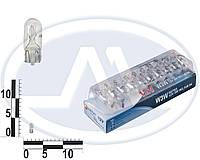 Лампа W3W 12В 3Вт W2,1x9,5d, подсветка панели приборов, бесцокольная большая (Диалуч).
