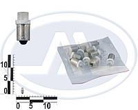Лампа T4W 24В 0,45Вт BA9s, передних габаритов малая белая LED (Китай). T8,5
