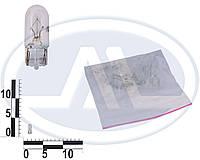 Лампа W5W 12В 5Вт W2,1x9,5d, подсветка панели приборов, бесцокольная большая (Китай). W5W