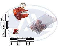 Патрон заднего фонаря ВАЗ 2104-05, 2107 двухконтактный (P21/5W 12В 21/5Вт BAY15d) красный (Китай). 9000300