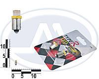 Лампа T4W 12В 0,45Вт BA9s, передних габаритов малая желтая LED, комплект (Китай). T8,5
