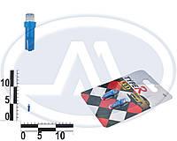 Лампа W1,2W 12В 1,2Вт W2х4,6d, подсветка панели приборов, дополнительного стоп-сигнала, бесцокольная малая синяя LED, комплект (Китай). Т5 (микрушка)