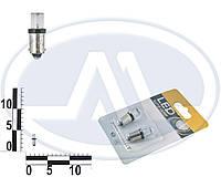 Лампа T4W 12В 0,45Вт BA9s, передних габаритов малая мультицвет LED, комплект (Китай). T8,5