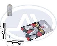 Лампа W3W 12В 3Вт W2,1x9,5d, подсветка панели приборов, бесцокольная большая белая LED, комплект (Китай). T10 б/ц  FLUX