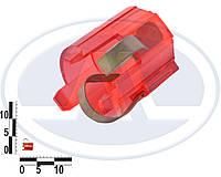 Патрон заднего фонаря ВАЗ 2104-05, 2107 одноконтактный (12В 21Вт BAU15s) красный (Китай). 9000000