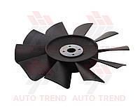 Вентилятор ГАЗ 3302 черный 10 лопостей с пластиной для установки (Китай ГАЗ). 3302-1308010-10