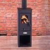Стальная печь-камин, Буржуйка EKONOMIK LUX LM 7 kW - Фото