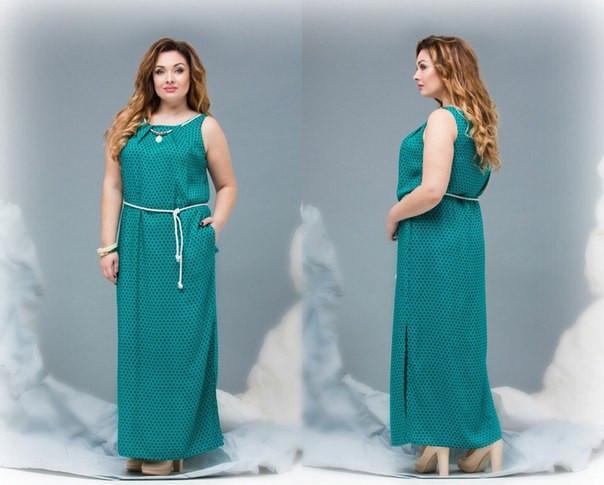 Длинное нарядное платье батал - TAVIT.shopping в Харькове