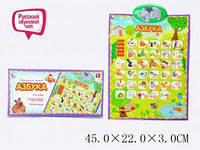 Интерактивный обучающий плакат F4-12 на батарейках (говорящая азбука, 45*22*2) Royaltoys