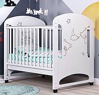 Детская кроватка для новорожденных «Мишутка» ТМ Pinocchio (опции: ящик, регулировка бортика, маятник), фото 1