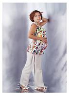 Блузка для беременных Манго ДЕЛОВАЯ МАМА (принт, размер L)