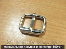Пряжки для сумок (25мм) никель, 10шт 4125