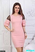 Элегантное платье с рукавчиками клеш