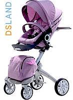 """Детская коляска """"DSLAND Xplory  V6 2в1 """"(светло-фиолетовая)"""