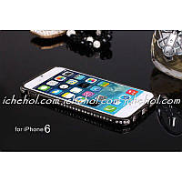 Бампер Black Luxury SWAROVSKI Diamond Aluminium for iPhone 6/6S (4.7)